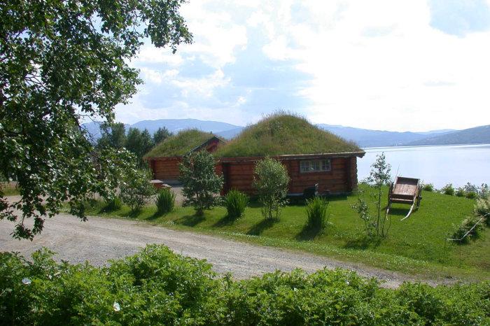 Bilde av hytter ved Patrusli Gaard