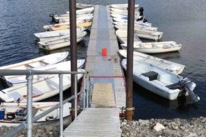Åpner dialogboks med lenker og info om båtutleie i Tydal og Sylan.