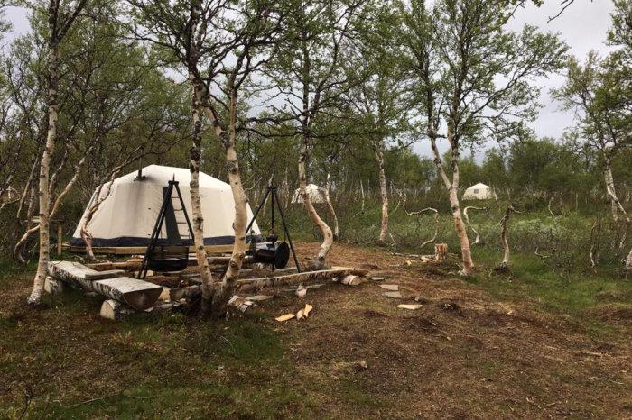 Foto fra Lavvo-camp ved Esanden