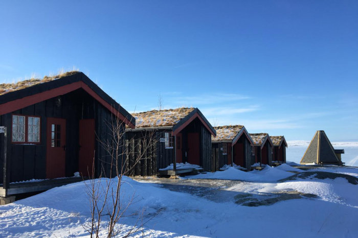 Vinterbilde fra Nesjøen vintercamp