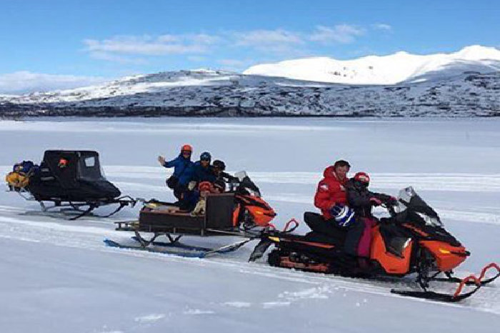 Flytter fokus nedover til informasjon om snøscooterkjøring i Tydal.